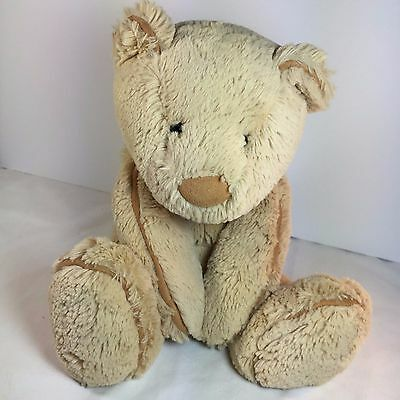 "JELLYCAT PIPER Teddy Bear - Tan Suede Nose - Plush 15"" Stuffed Animal"