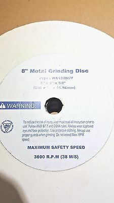 """NEW 8"""" x 1"""" x 5/8 White Grinding WheelS 60 AND 120 Grit! NO RESERVE"""