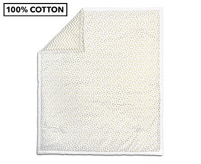 The Peanut Shell Confetti Quilt - White/Gold