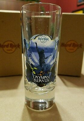 Hard Rock Cafe Tall Shot Glass Cayman Islands Collectable