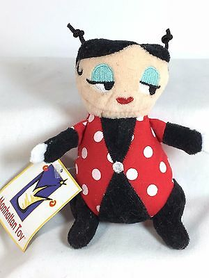 "Miss Ladybug Finger Puppet by Manhattan Toy - 4"" Plush Toy - NWT"