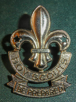 Vintage Boy Scouts Canada Hat Badge Scully Montreal Canadian Metal Cap