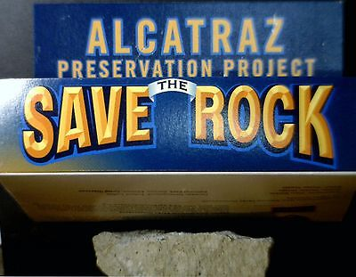 """ALCATRAZ """" Piece of The Rock """" GENUINE artifact from the Island in delux box NR"""