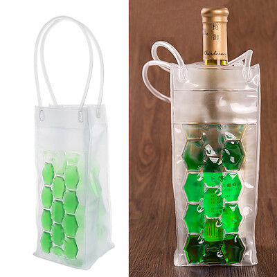 PVC Wine Bottle / Ice Bag Cooler Cool Rapid Can Cooling Gel Holder Gift Party