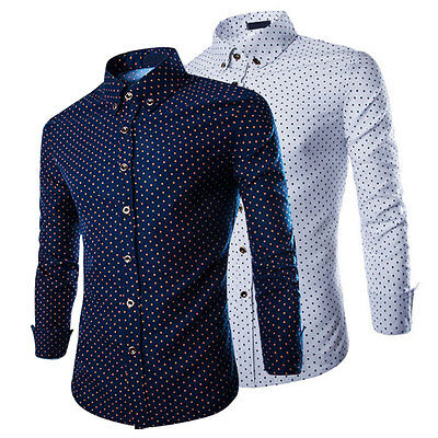 New Men's Casual Long Sleeve Slim Fit Stylish Dress Shirts Formal Shirt Tops