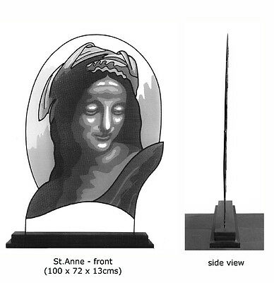 """Sculpture - """"Murray St.Anne"""" (Mesh and Steel.)"""