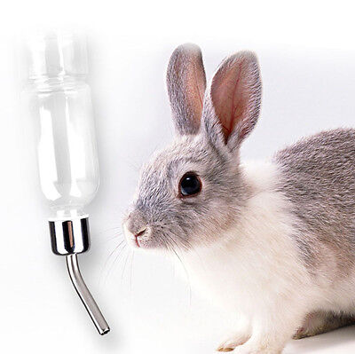180ml Stainless Steel Drinking Straws Water Bottle Feeder Pet Rat Hamster Rabbit