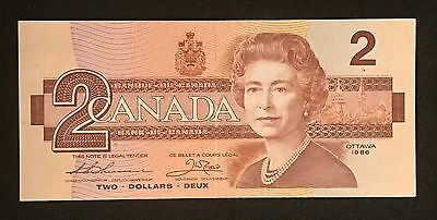 Bank of Canada $2 Note 1986 Thiessen-Crow   Circulated/Ungraded    BUH2435466