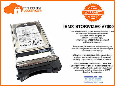 """IBM Storwize V7000 300GB SSD 2.5"""" Disk Drive 25 Drives Available"""