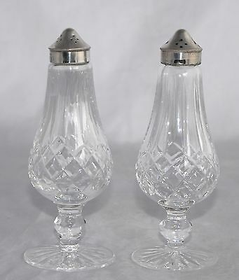 Pair of WATERFORD Crystal Salt & Pepper Shakers - Eclipse - Diamond & Vertical