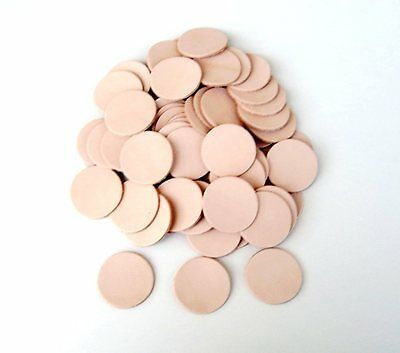 50 Leather stamping parts round Cowhide Natural 30 / 40 / 45 mm Craft