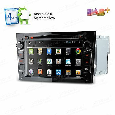 "7"" Android 6.0 Car DVD Player GPS DAB+ Opel Vauxhall Astra H Corsa Vectra Black"