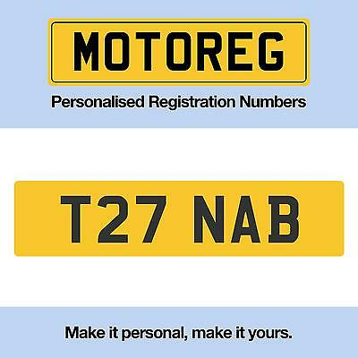 Cherished  Private  Personalised  Number Plate T27 NAB