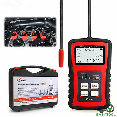 Multisystem Ignition Analyzer COP RPM Test Car Digital Spark Plug Tester KM20