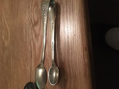 Antique ESPN stamped Plated silver sugar tongs
