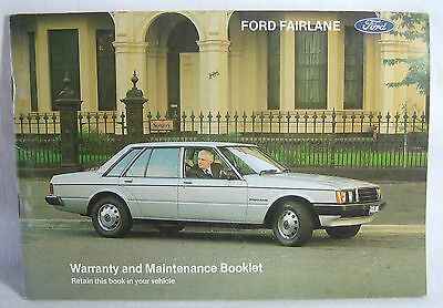 Ford Fairlane Warranty & Maintenance Booklet Glove Box PriorTo 1979 Handbook