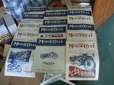 The Motor Cycle Magazine 16 Issues  1946