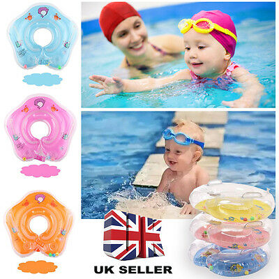 Baby Swimming Neck Float Inflatable Ring Adjustable Safety Aids 1-18 Months
