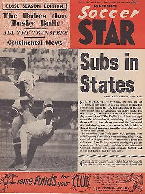 Soccer Star ~ 22 June 1957 ~ Tottenham /  Manchester United / Celtic