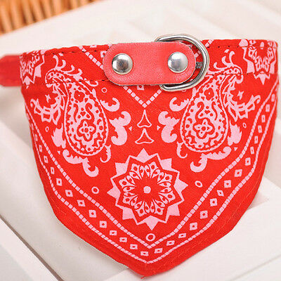 Adjustable Pet Dog Puppy Cat Neck Scarf Bandana with Collar Neckerchief XL Size