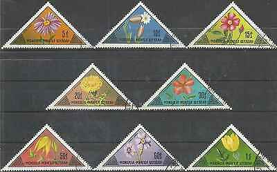 Timbres Flore Mongolie 686/93 o lot 4943