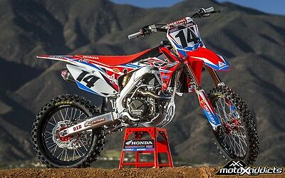 HONDA CR CRF 125 250 450 2016 HRC Factory Graphics Decals Kit 1994 - Current