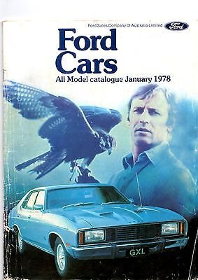 Ford cars all model catalogue 1978