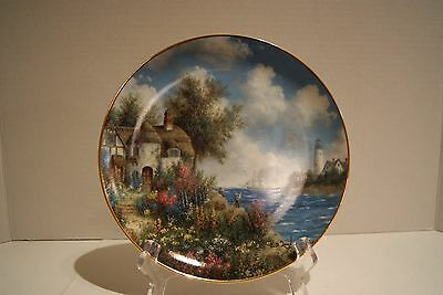 Danbury Mint Sea Cliff Cottage Plate From Country Gardens Collection Ltd Edition