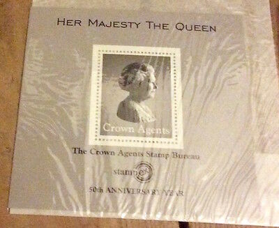 Crown Agents Stamp Bureau 50th Anniversary of Stampex £1 stamp mini sheet 2006