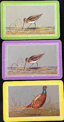 VINTAGE - SWAP/PLAYING CARDS x 3 BARRIBAL BIRDS