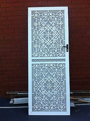 Security Door 2105 H x 786 W Decorative Aluminium with obscure screen.