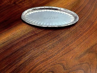 Foster & Bailey Decorated Sterling Silver Pin Tray 1878-1951 Mono ABW