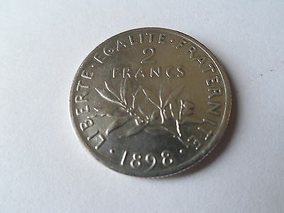 France Silver 2 Francs 1898 Coin