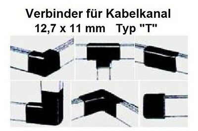 """Connector Type """"T"""" for Cable channel 12,7x11mm / please Colour select"""