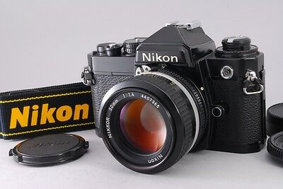 Exc+++++ Nikon FE 35mm SLR Film Black Camera with Ai 50mm f1.4 from Japan 161