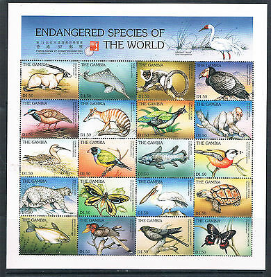 Gambia 1997 Endangered Species SG 2436/75 MNH