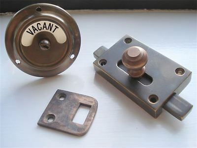 Antique Finish Vacant Engaged Toilet Bathroom Lock Bolt Indicator Door Handles