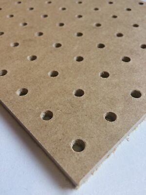 6mm wooden Pegboard 600MM X 300MM,6mm hole with 25mm Hole centres perf hboard