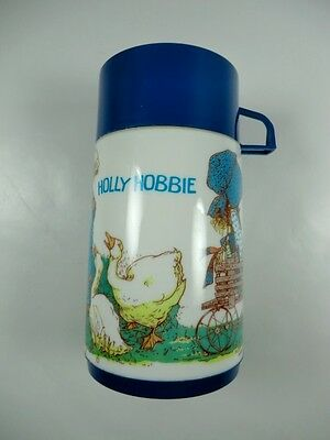 Vintage 1978 Holly Hobbie Hobby Robby Thermos for Lunchbox Blue Alladin
