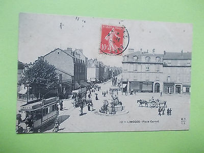 Cpa LIMOGES - Place Carnot