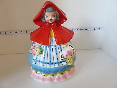 Vintage Rare Napco Little Red Riding Hood Cookie Jar Very Cool