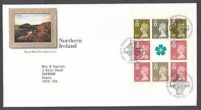 1994 Northern Ireland Se-Tenant Booklet Pane On Fdc