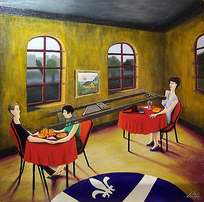 """Actual Art-Fine Acrylic Painting- Title: """"seduction: Women's Misogyny In Quebec"""""""