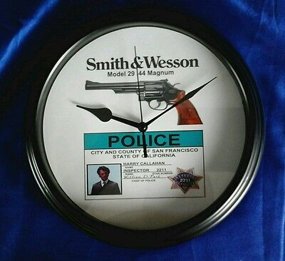 DIRTY HARRY SMITH & WESSON MODEL 29 WALL CLOCK (Black) VERY LIMITED SUPPLY