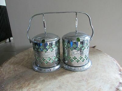 vintage art deco double preserve pot kitsch