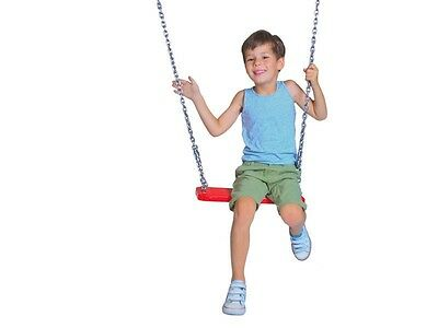 Kids Rubber Swing Seat with Ropes and Metal Insert Domestic Commercial Use