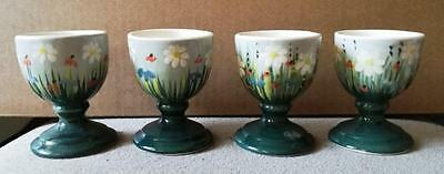 Set Of 4 Egg Cups By S. Bass.