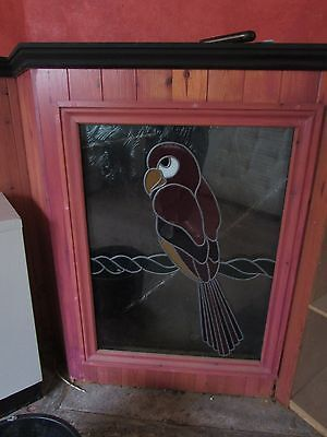 Coloured Stained Glass Panel Parrot