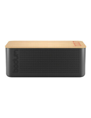 NEW Bodum Bistro Bread Box - Black