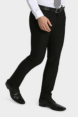 NEW Kenji Formals Hemsworth Skinny Suit Trouser Black